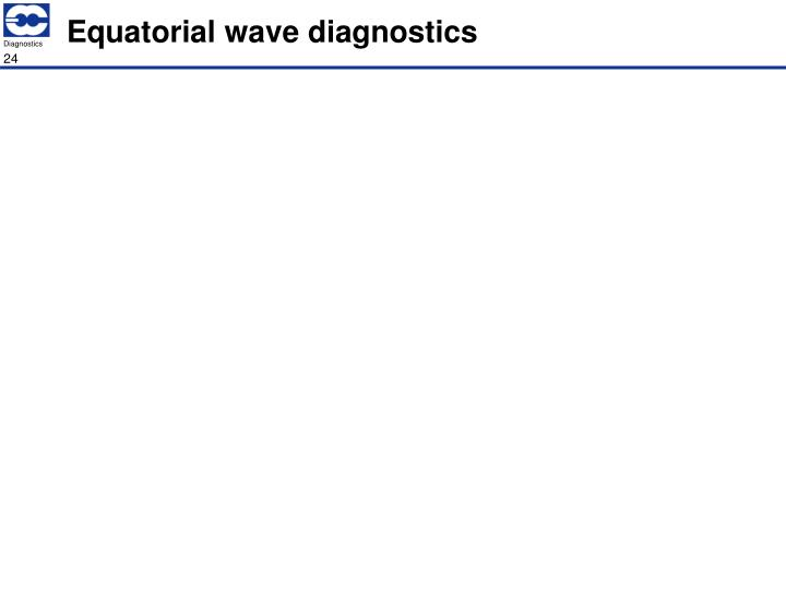 Equatorial wave diagnostics