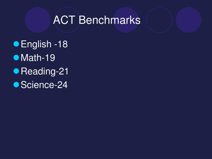 ACT Benchmarks