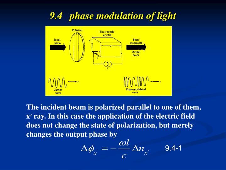 9.4   phase modulation of light