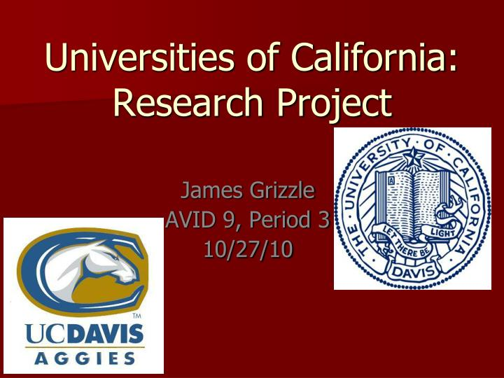 Universities of california research project