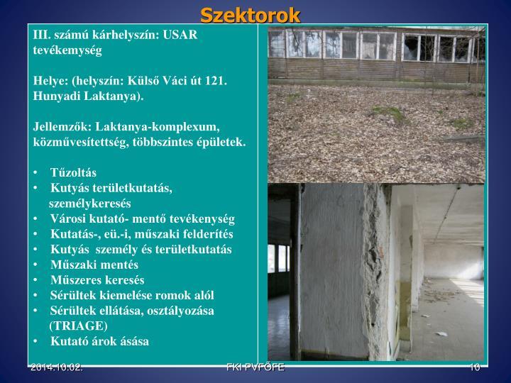 Szektorok