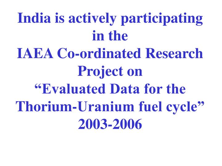 India is actively participating in the