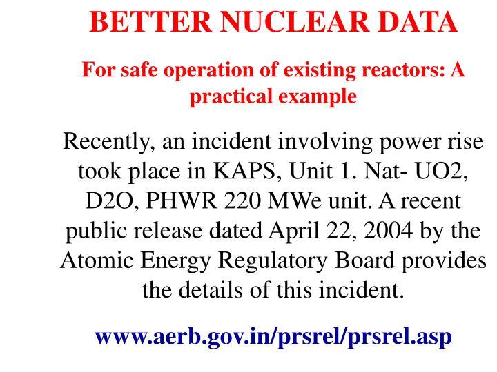 BETTER NUCLEAR DATA