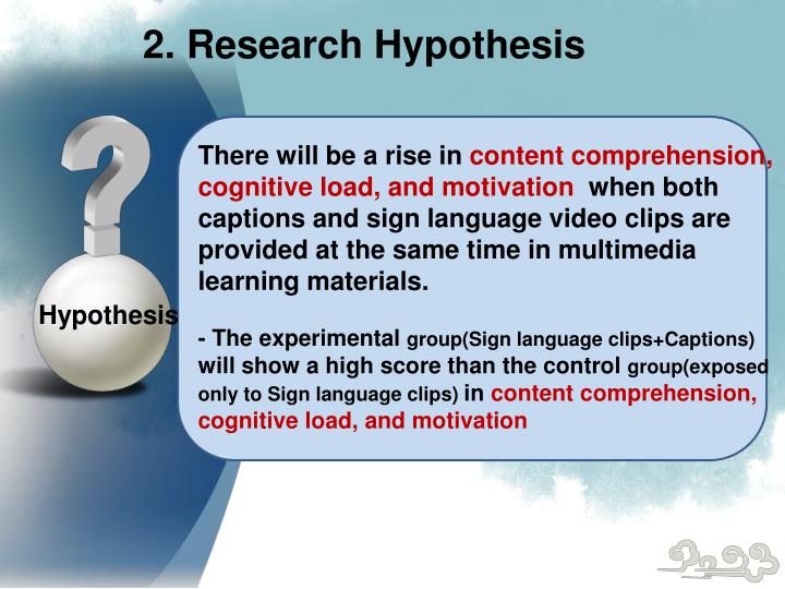 2. Research Hypothesis