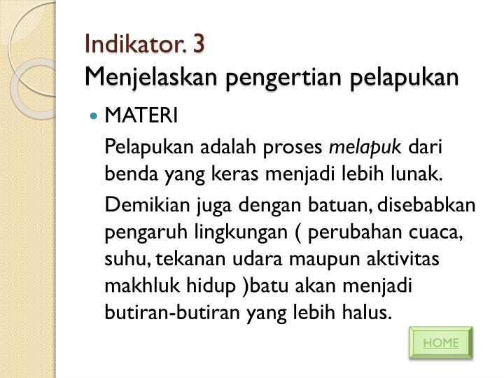 Indikator. 3