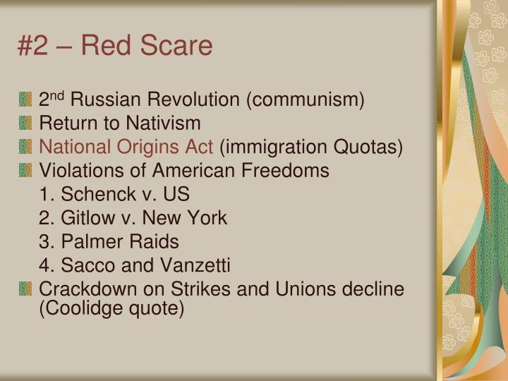 #2 – Red Scare