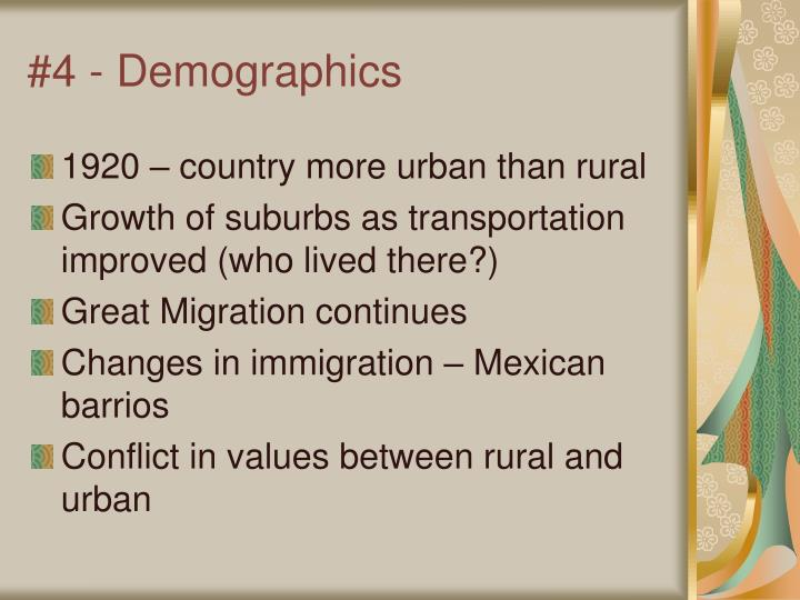 #4 - Demographics