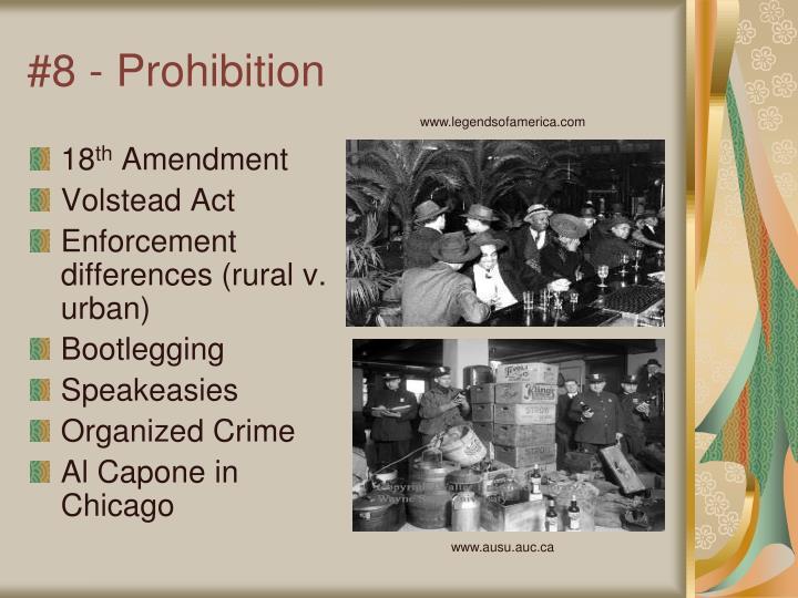 #8 - Prohibition