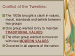 conflict of the twenties