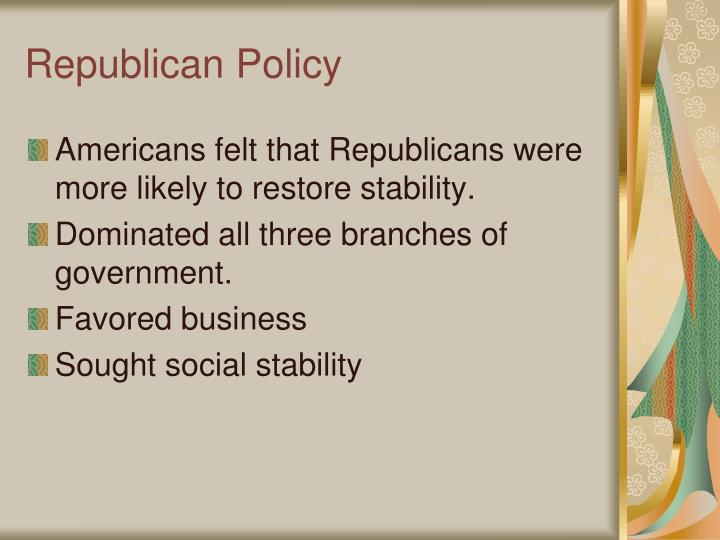Republican Policy