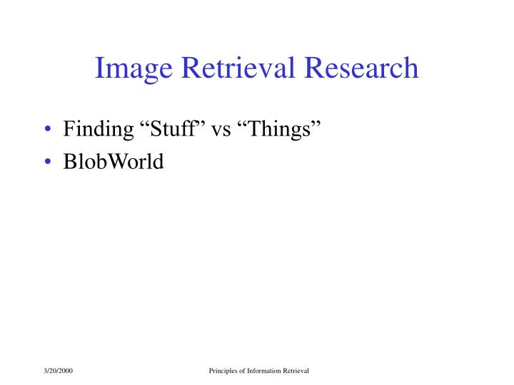 Image Retrieval Research