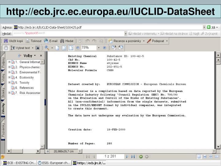 http://ecb.jrc.ec.europa.eu/IUCLID-DataSheet
