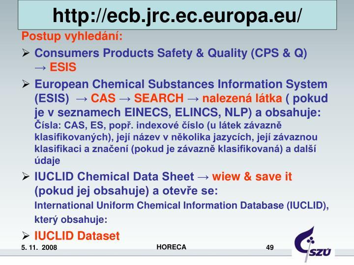 http://ecb.jrc.ec.europa.eu/