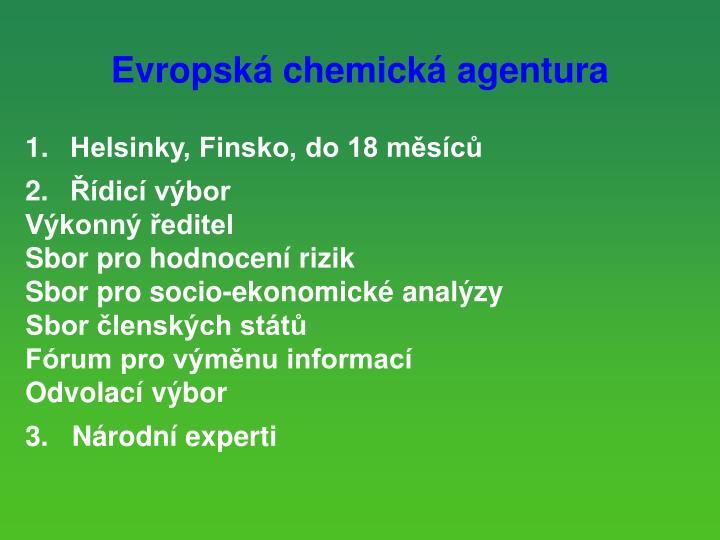 Evropsk chemick agentura
