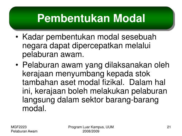 Pembentukan Modal
