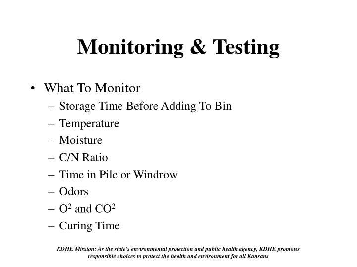 Monitoring & Testing