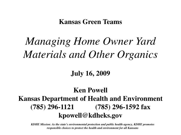 Kansas Green Teams