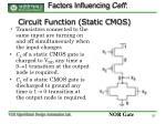 circuit function static cmos
