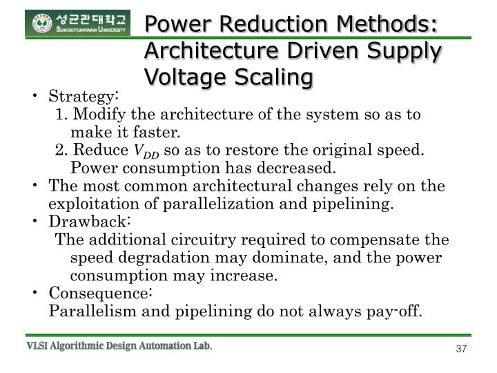 Power Reduction Methods: