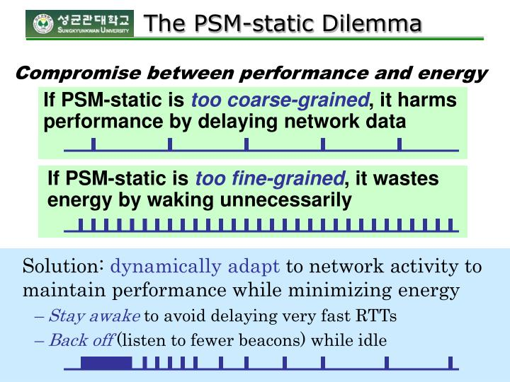 If PSM-static is