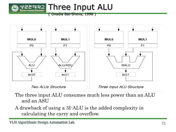 Three Input ALU