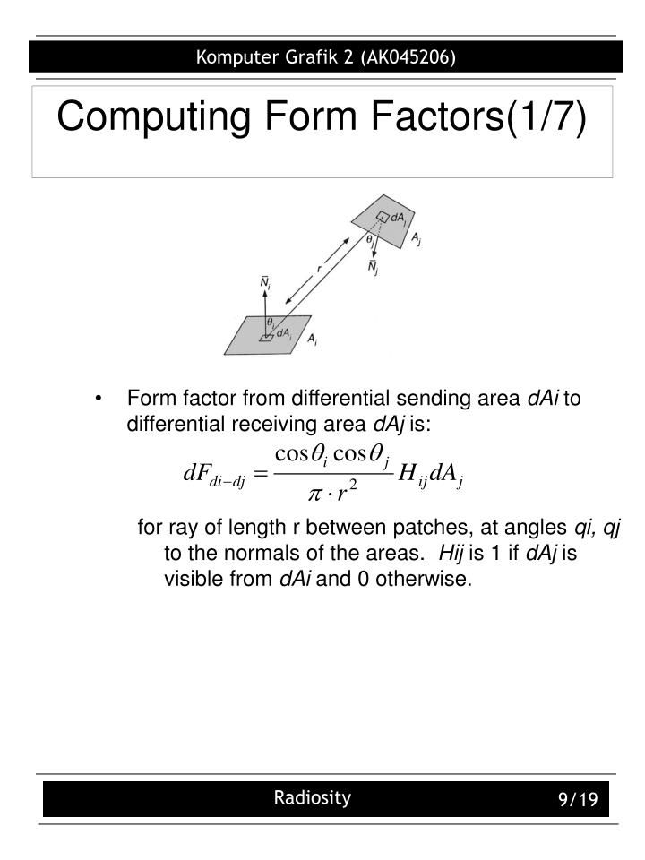 Computing Form Factors(1/7)