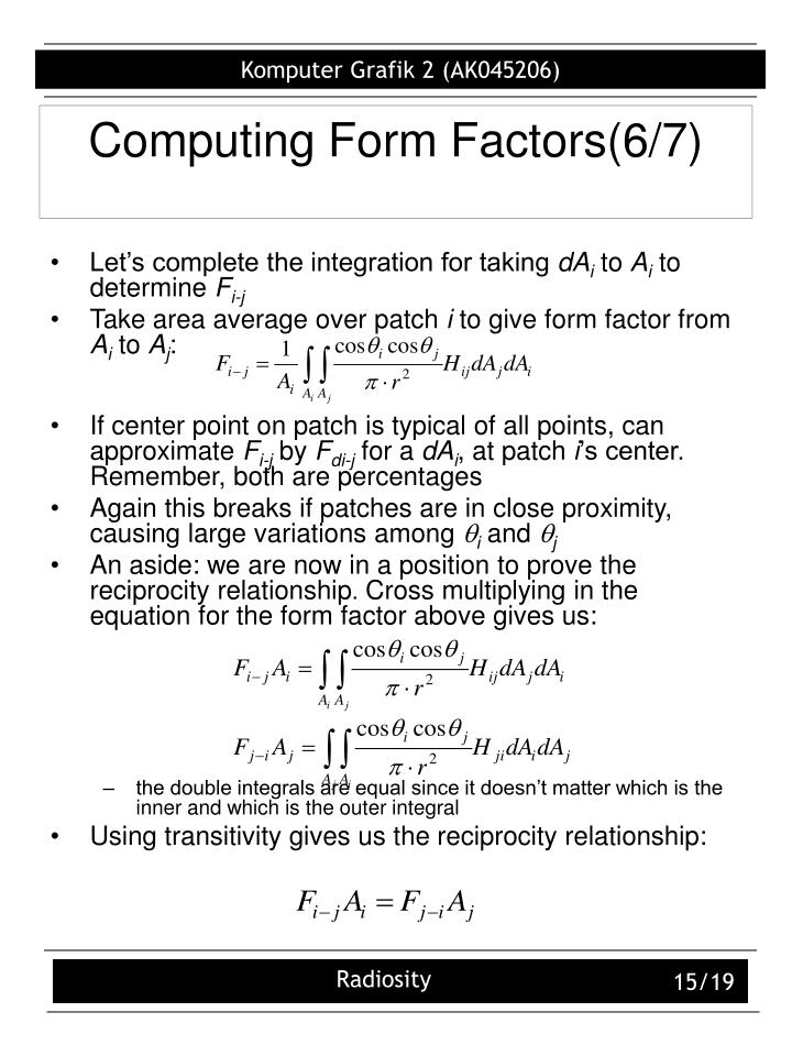 Computing Form Factors(6/7)