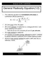 general radiosity equation 1 2