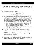 general radiosity equation 2 2