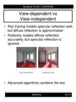 view dependent vs view independent