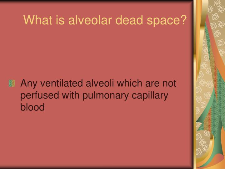 What is alveolar dead space?