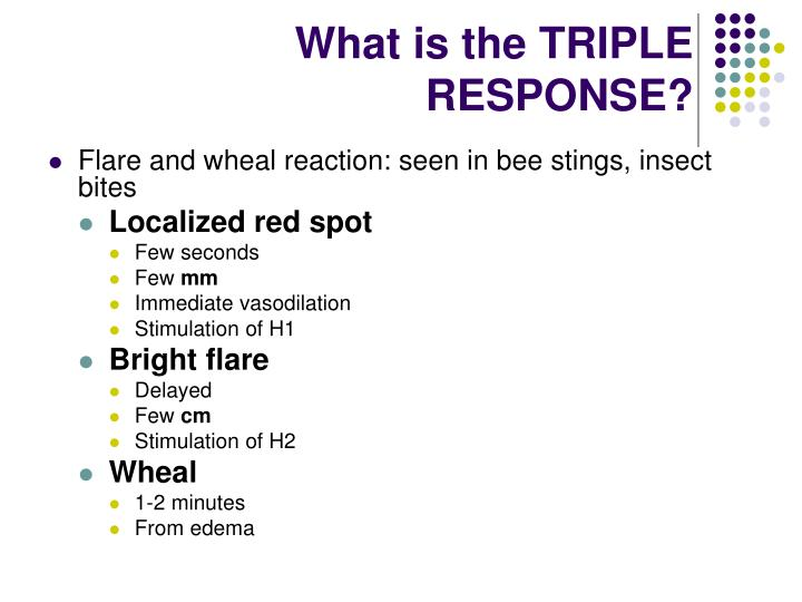 What is the TRIPLE RESPONSE?
