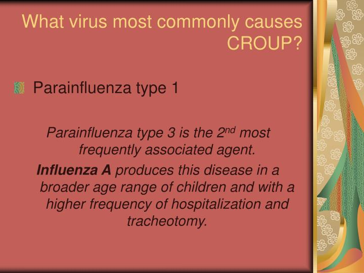 What virus most commonly causes CROUP?