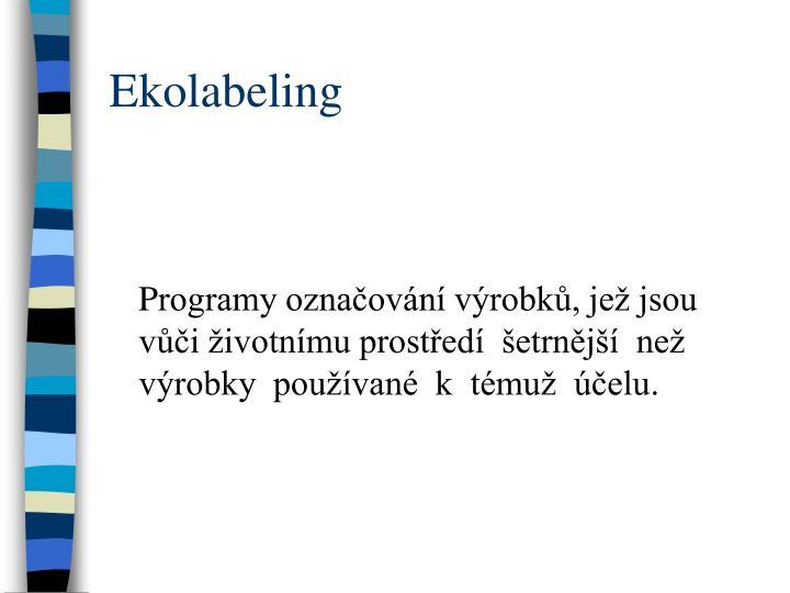 Ekolabeling