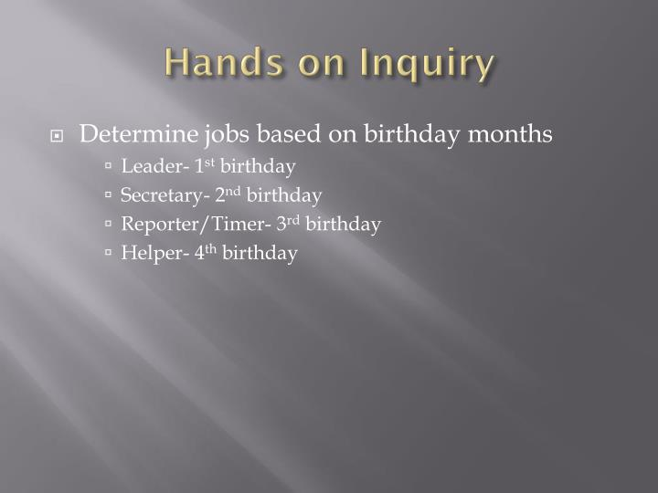 Hands on Inquiry