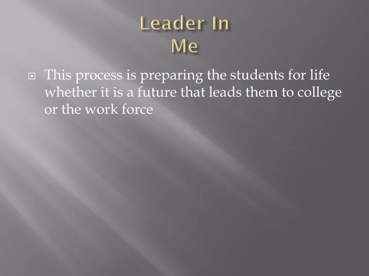 Leader In