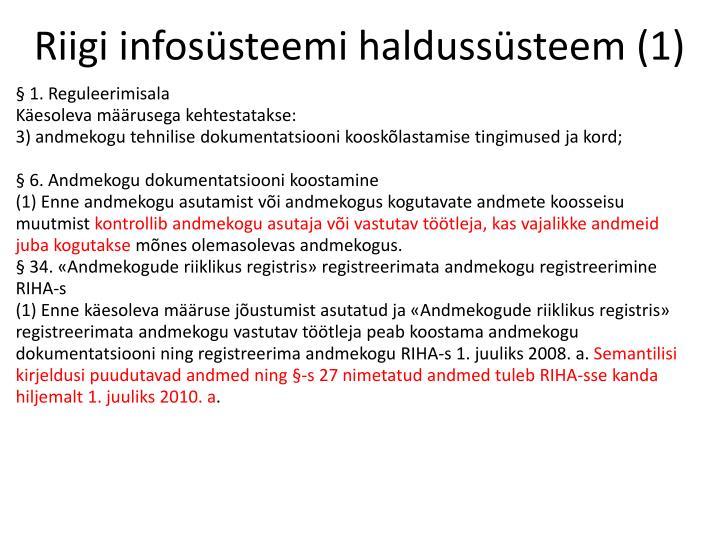Riigi infosüsteemi haldussüsteem (1)