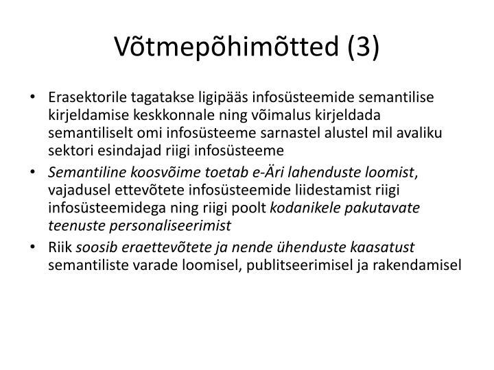 Võtmepõhimõtted (3)