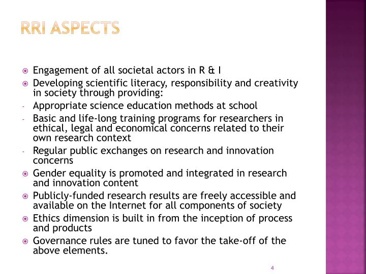 RRI Aspects