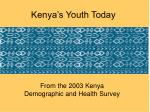 kenya s youth today