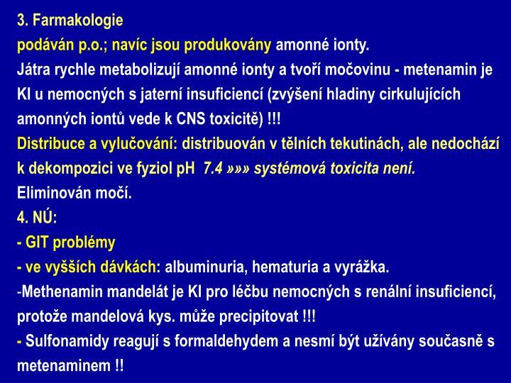 3. Farmakologie