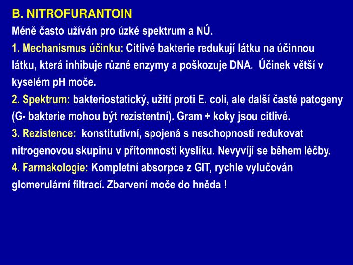 B. NITROFURANTOIN