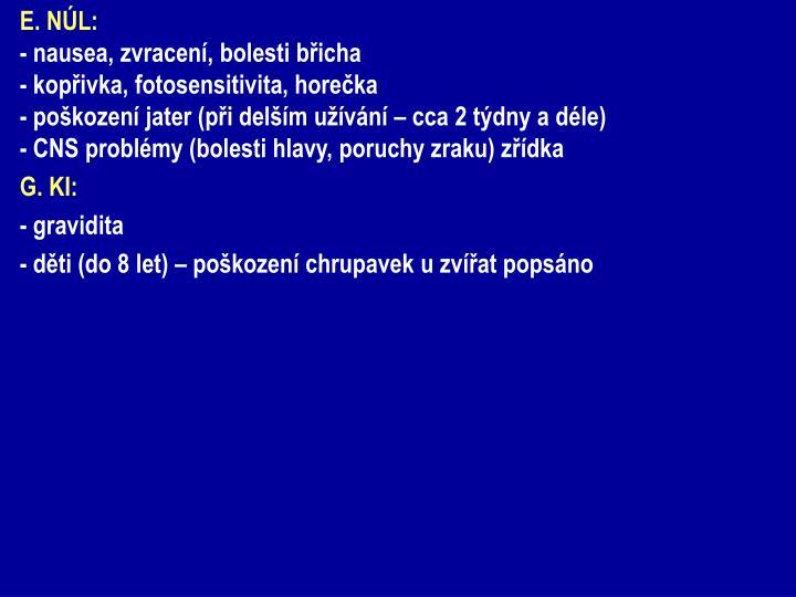 E. NÚL: