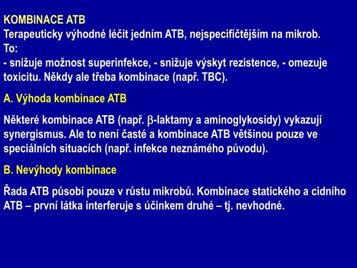 KOMBINACE ATB
