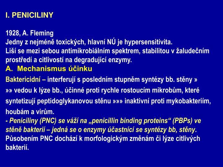 I. PENICILINY