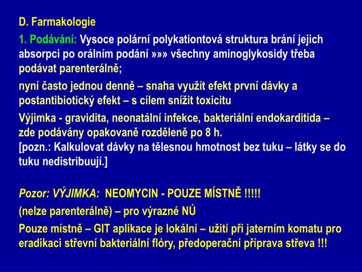 D. Farmakologie