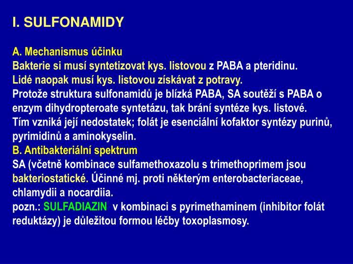 I. SULFONAMIDY