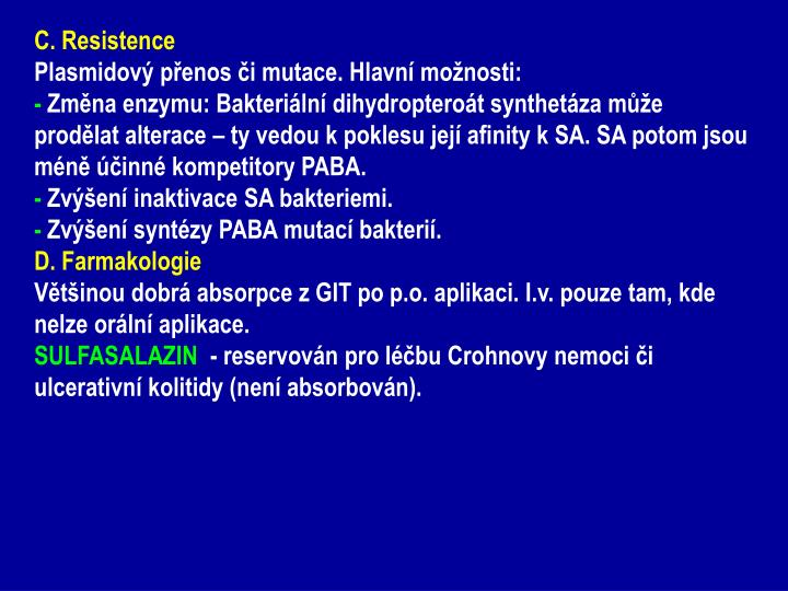 C. Resistence