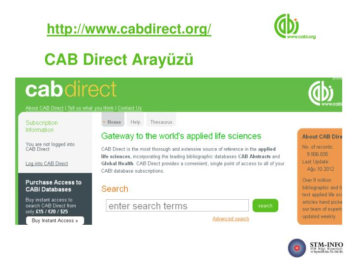 http://www.cabdirect.org/