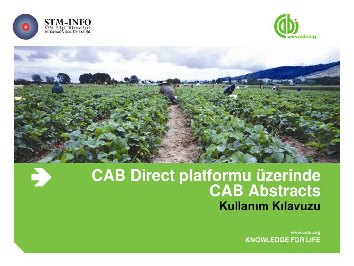 Cab direct platformu zerinde cab abstracts